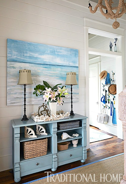 Blue Coastal Ocean Theme Foyer