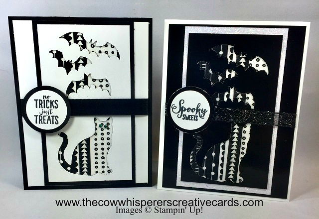Card, Spooky Bats Punch, Cat Punch, Spooky Sweets, Halloween