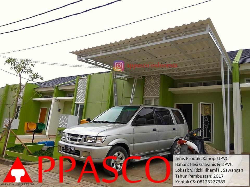 Kanopi Minimalis UPVC di Villa Rizki Sawangan