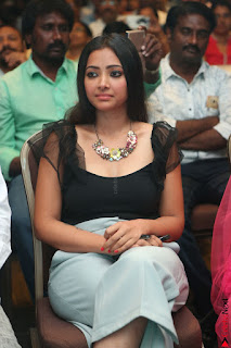 Swetha Basu in a Black Sleeveless Top Long Skirt at Mixture Potlam Movie Audio Launch 006.JPG