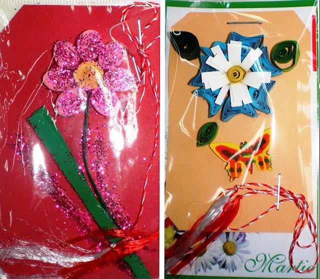 Mărțișoare flori quilling