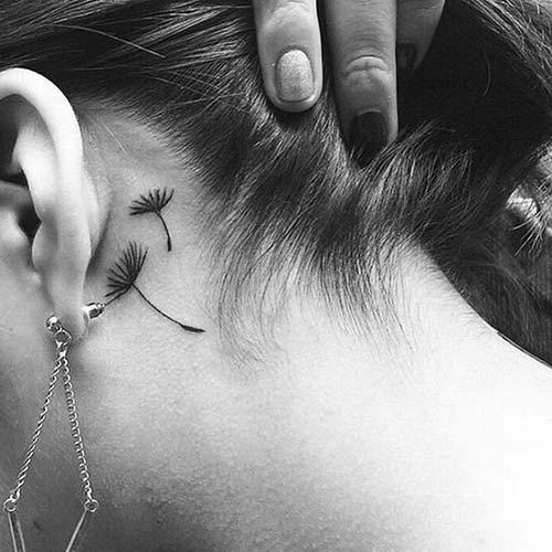 kulak arkası dövmeleri behind ear tattoos 5