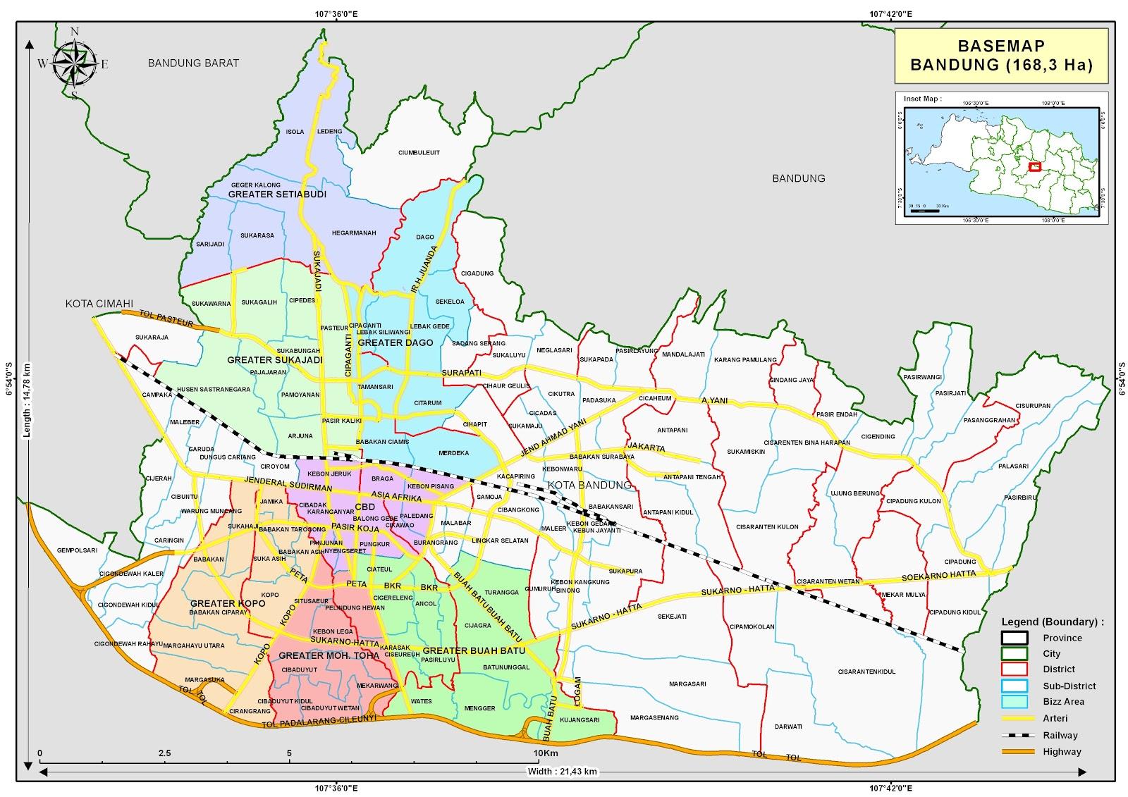 Map bandung kota peta kota peta kota bandung sciox Gallery