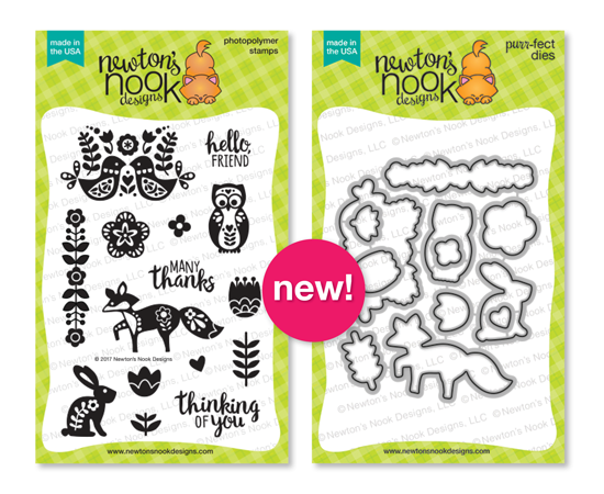 Folk Art Garden | Cottage Garden stamp set by Newton's Nook Designs #newtonsnook