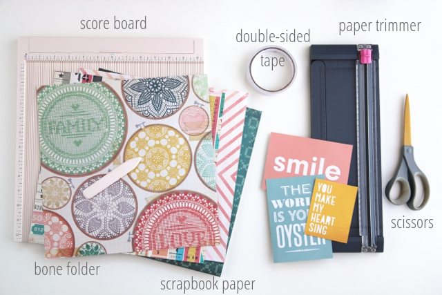 Things you'll need to make your own Diy Scrapbook Paper Pocket Envelopes.