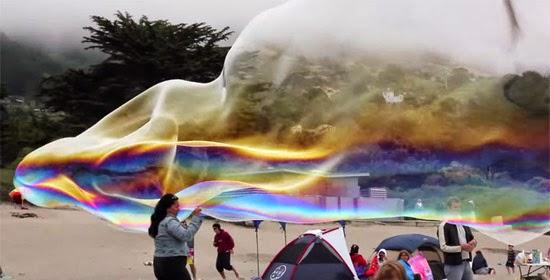 bolha de sabão gigante