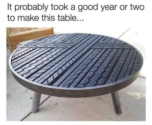 It probably took a good year or two to make this table