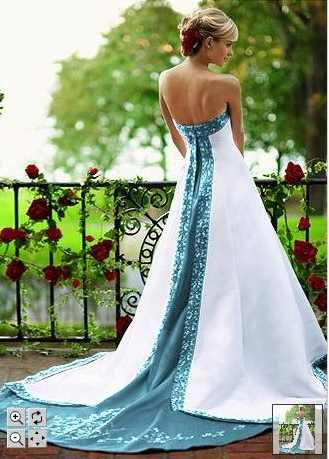 Wedding Decorations Dream Blue And White Wedding Dress