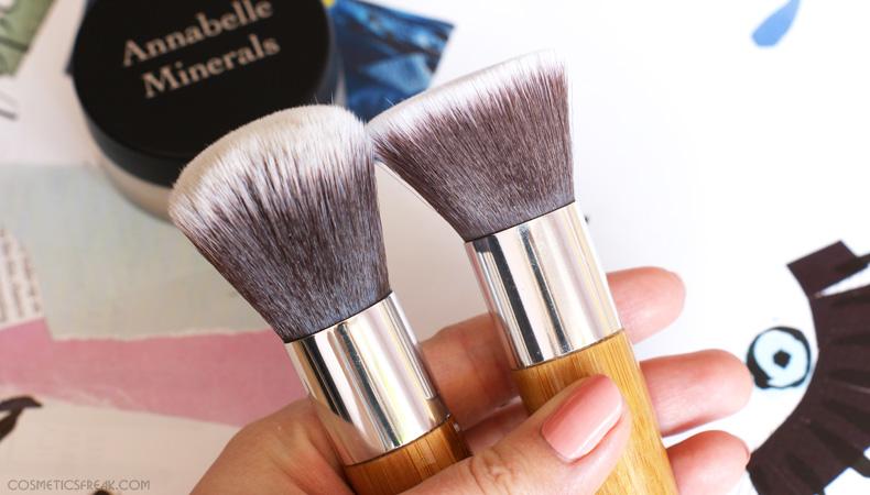 annabelle minerals pędzle flat top kabuki