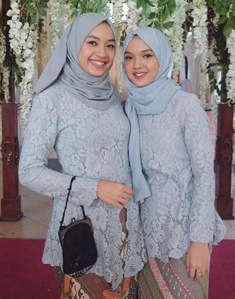 Desain Baju Kebaya Brokat Muslim Model Hijab Terbaru