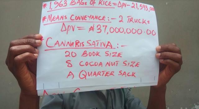 Ogun Customs intercepts 1,963 bags of foreign rice in two weeks