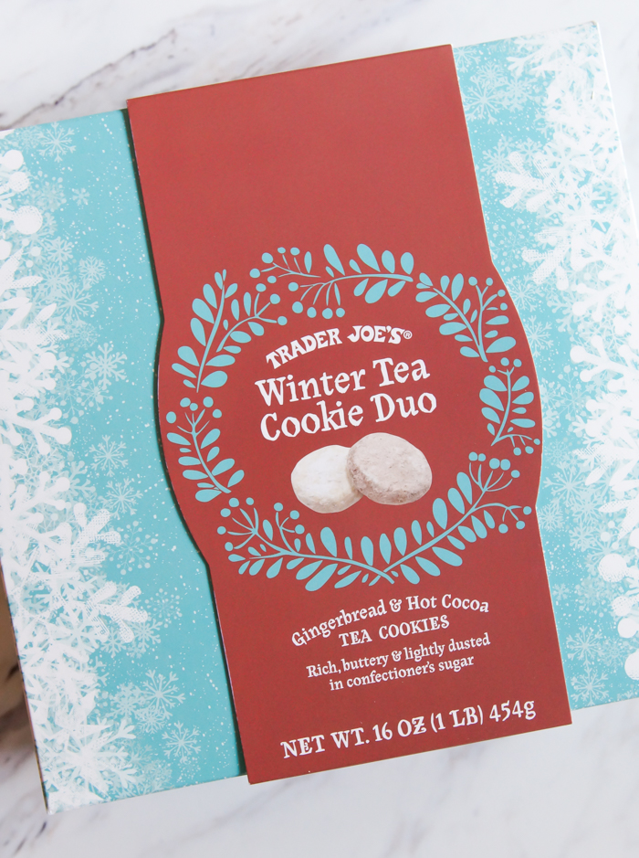 Weekly review of Trader Joe's sweets and desserts. This week: Trader Joe's  Winter Tea Cookie Duo.