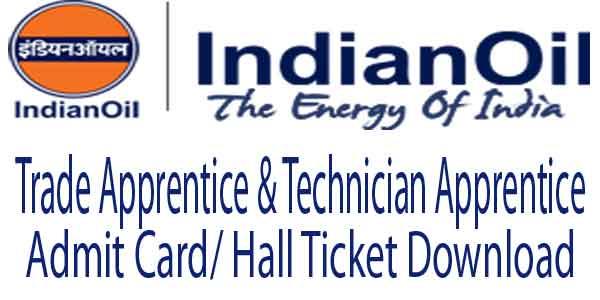 IOCL Barauni Admit Card 2017
