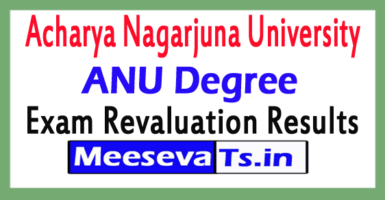 Acharya Nagarjuna University  Degree 2nd & 4th Sem Revaluation Results 2017