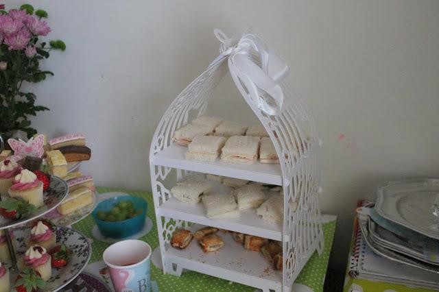 birdcage sandwich stand afternoon tea