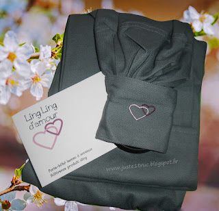 ling ling d'amour LLA sling ringsling eucalyptus sergé portage babywearing écharpe anneaux noeud