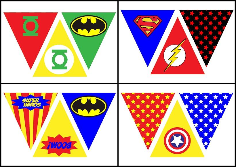 Superheroes Free Printable Bunting - Oh My Fiesta! for Geeks