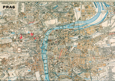 Nazi Map of Prague