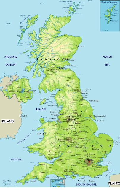 خريطة المملكة المتحدة البريطانية United Kingdom Map