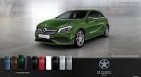 Mercedes A250 2017 màu Xanh lục Elbaite 175