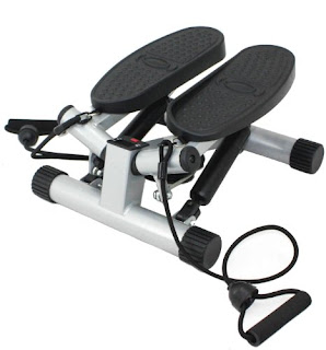 Sunny Health & Fitness Twisting Stair Stepper with Band