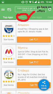 our verified trick get free talktime from taskbucks app 30rs just downloading a app .this is a popular app for free recharge and also their refer and earn program is quiet good you get 40rs and 50mb data for refering a friend .when you download a app get your balance in taskbucks wallet.and use it for free recharge or transfer it paytm.
