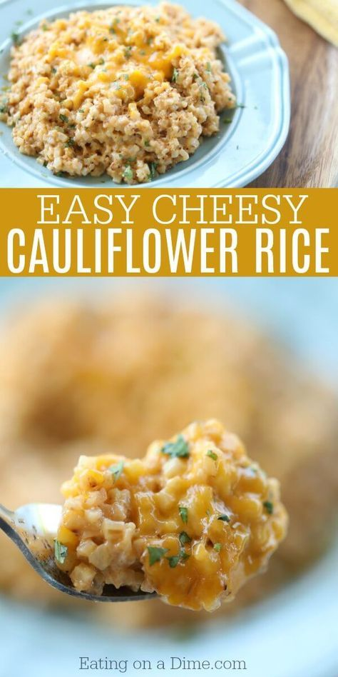 EASY CHEESY CAULIFLOWER RICE RECIPE #easyrecipes #cheesy #cauliflower #rice #veggies #veganrecipes #vegetarian #vegetarianrecipes