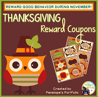 https://www.teacherspayteachers.com/Product/Thanksgiving-Reward-Coupons-2161647