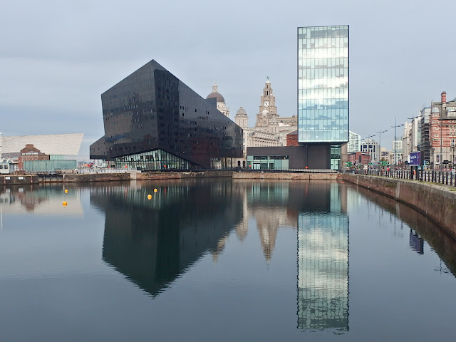 The start of our waterfront walk in Liverpool