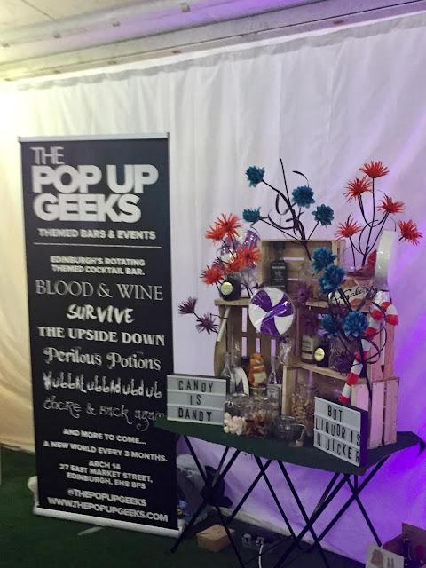 The Pop Up Geeks bar at Edinburgh Cocktail Village