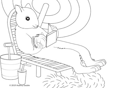 a squirrel coloring page for kids