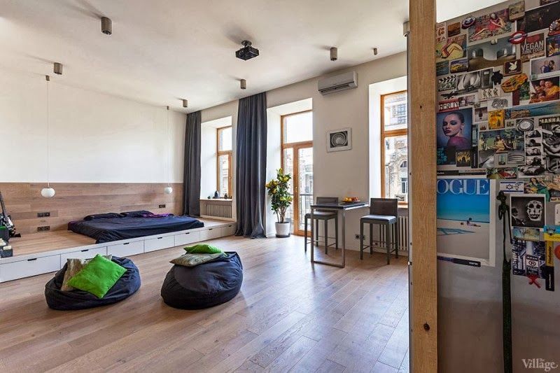 Hogares Frescos Elegante Apartamento con Estudio Abierto