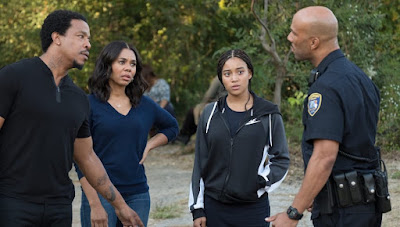 The Hate U Give 2018 movie still Amandla Stenberg Regina Hall Russell Hornsby Common
