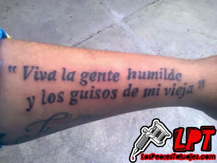 Tatuajes graciosos : Viva la gente humilde y los guisos de mi vieja