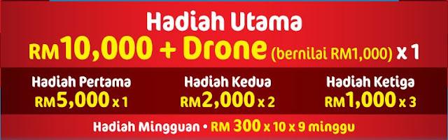 Menang Wang Tunai Dan Drone Dengan Yeo's Malaysia 2016