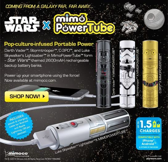 Star Wars Series MimoPowerTubes by Mimoco