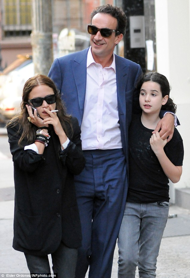Me and my girls: Mary-Kate Olsen steps out with boyfriend