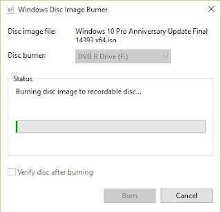 Cara burning file iso windows 10