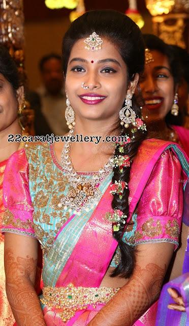 Bride Laya in Diamond Wedding Jewellery
