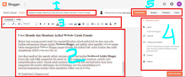 Panduan Belajar Membuat dan Menulis Artikel Website Untuk Pemula