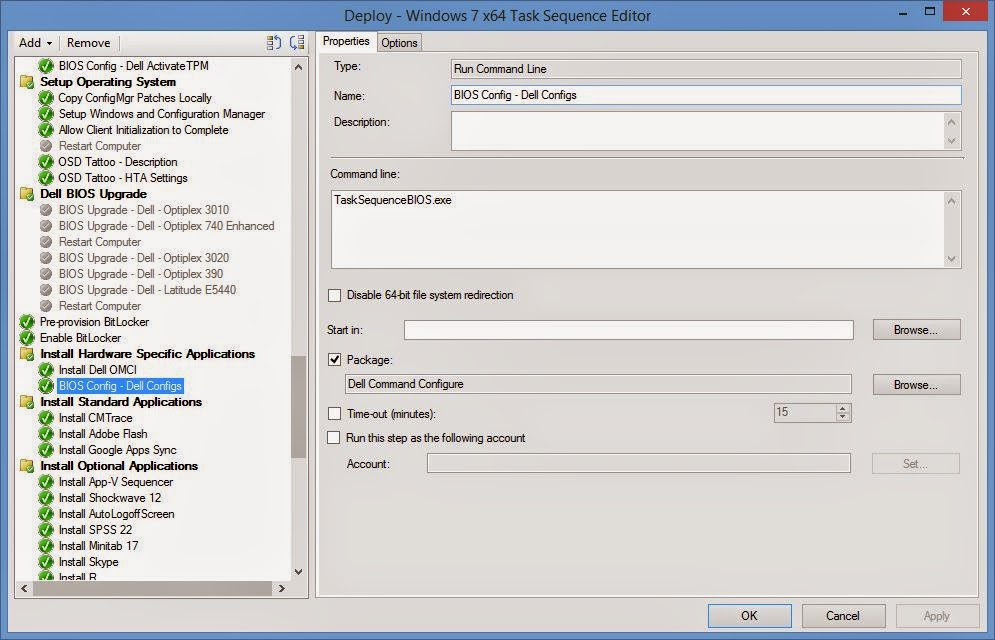 Dell command configure commands
