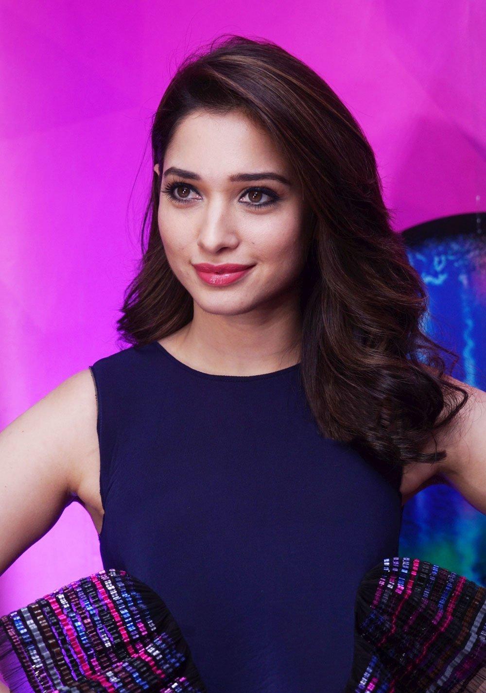 Actress Tamannaah Long hair Face Close up Photos