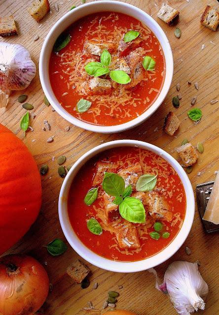 Kremowa zupa z dyni i pomidorów / Cream of Tomato and Pumpkin Soup