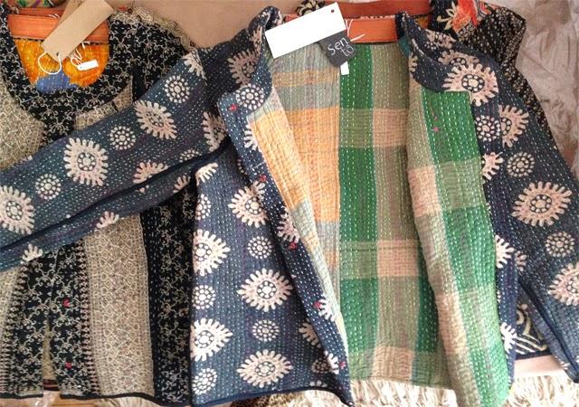 Vestes ethniques sari vintage