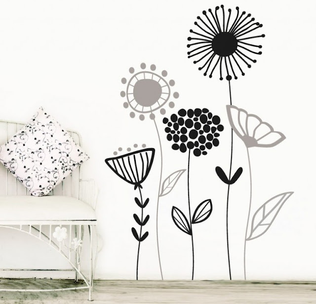 Flowers on The Wall 1