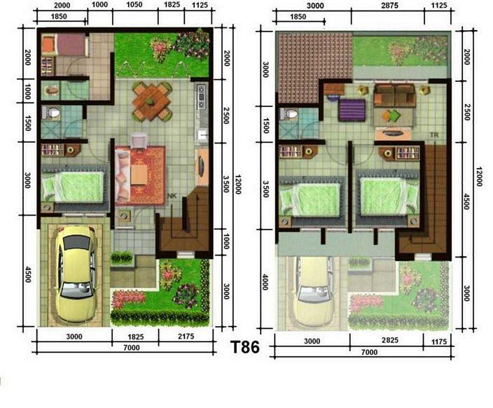 denah rumah minimalis tipe 90 yang modern