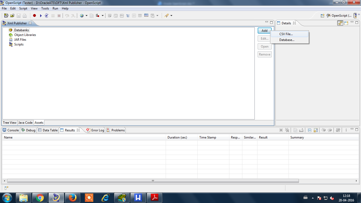 Oracle csv select