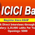 #ICICI Bank Direct Interviews through Walk-Ins Salary: 3,20,000 Lakhs || Openings:9000