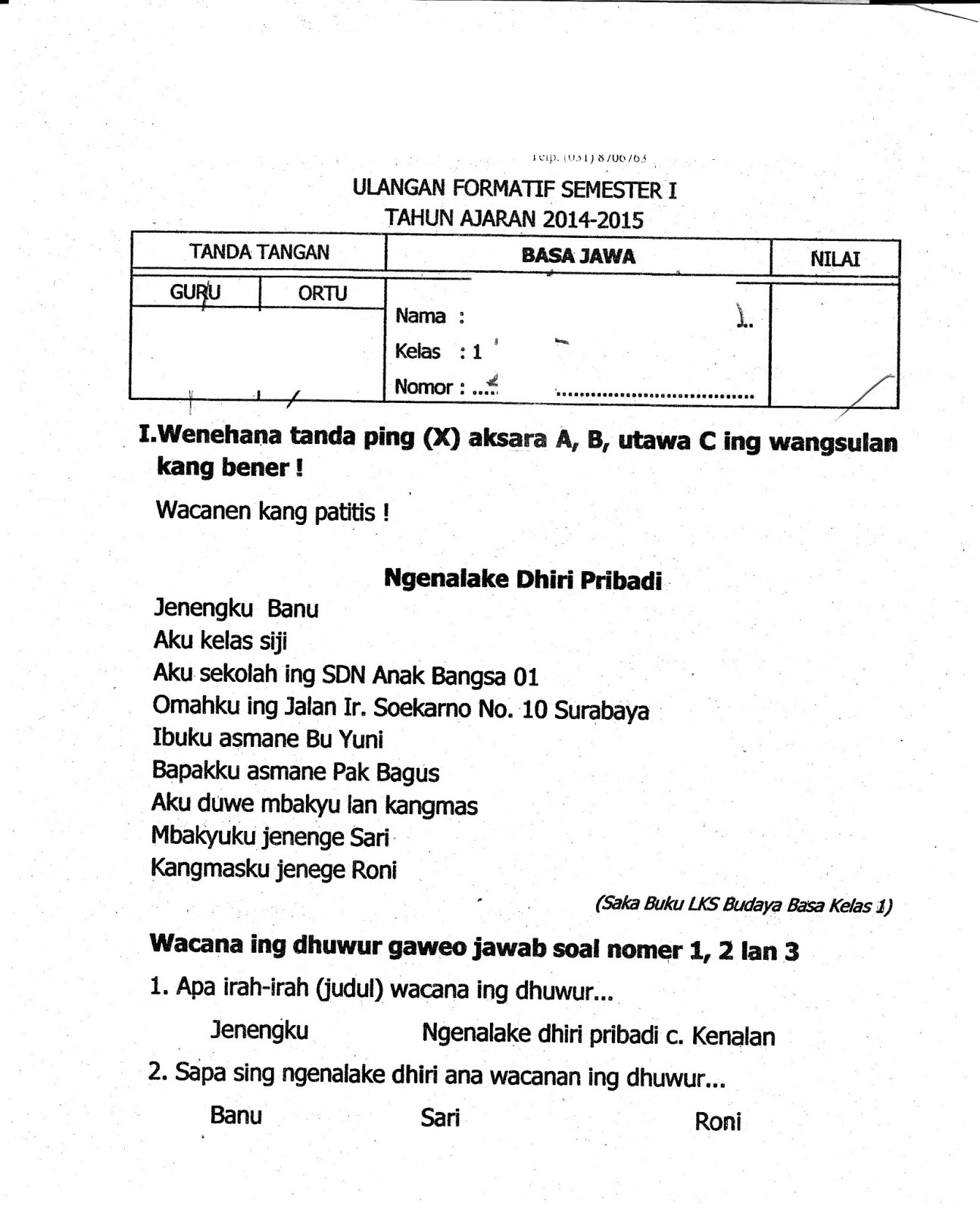 Materi Bahasa Jawa Kelas 9 Semester 1 Kurikulum 2013 Ilmusosial Id