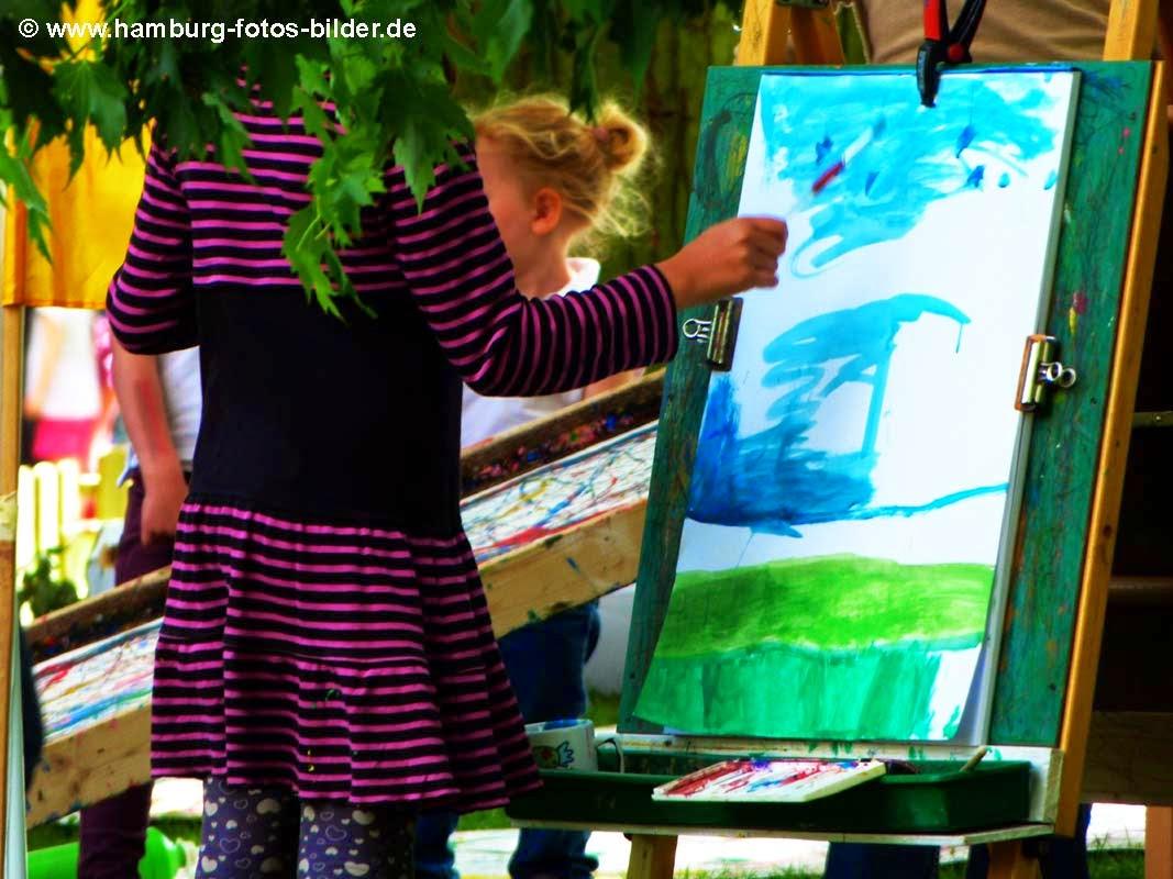 Kinderfest Hamburg, Wabe Experimenta, Kinder zeichnen